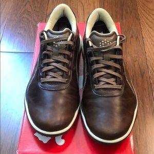 Puma Biodrive Brown Leather Spikeless Golf Shoe